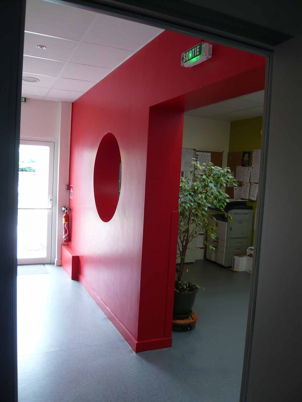Couloir administratif du siège