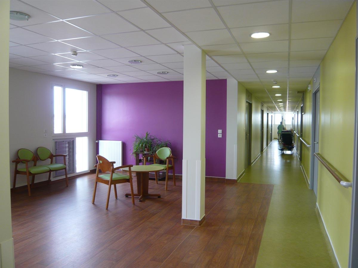 salon vert Etablissement MRS Le Cendre Gonin Architectes