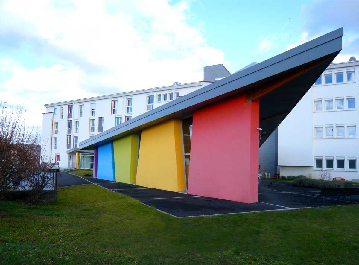 vue perspective Etablissement MRS Le Cendre Gonin Architectes