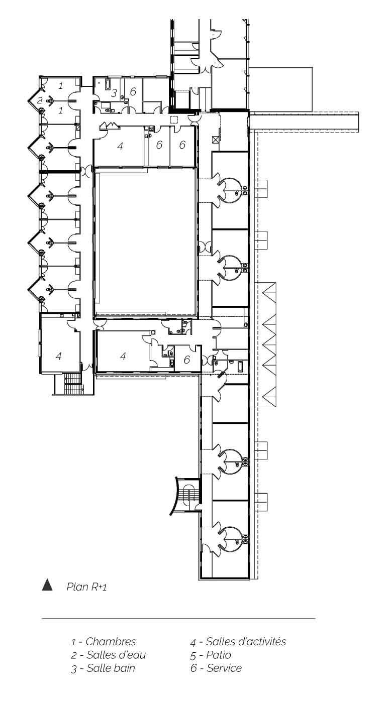 Plan étage CMI Romagnat