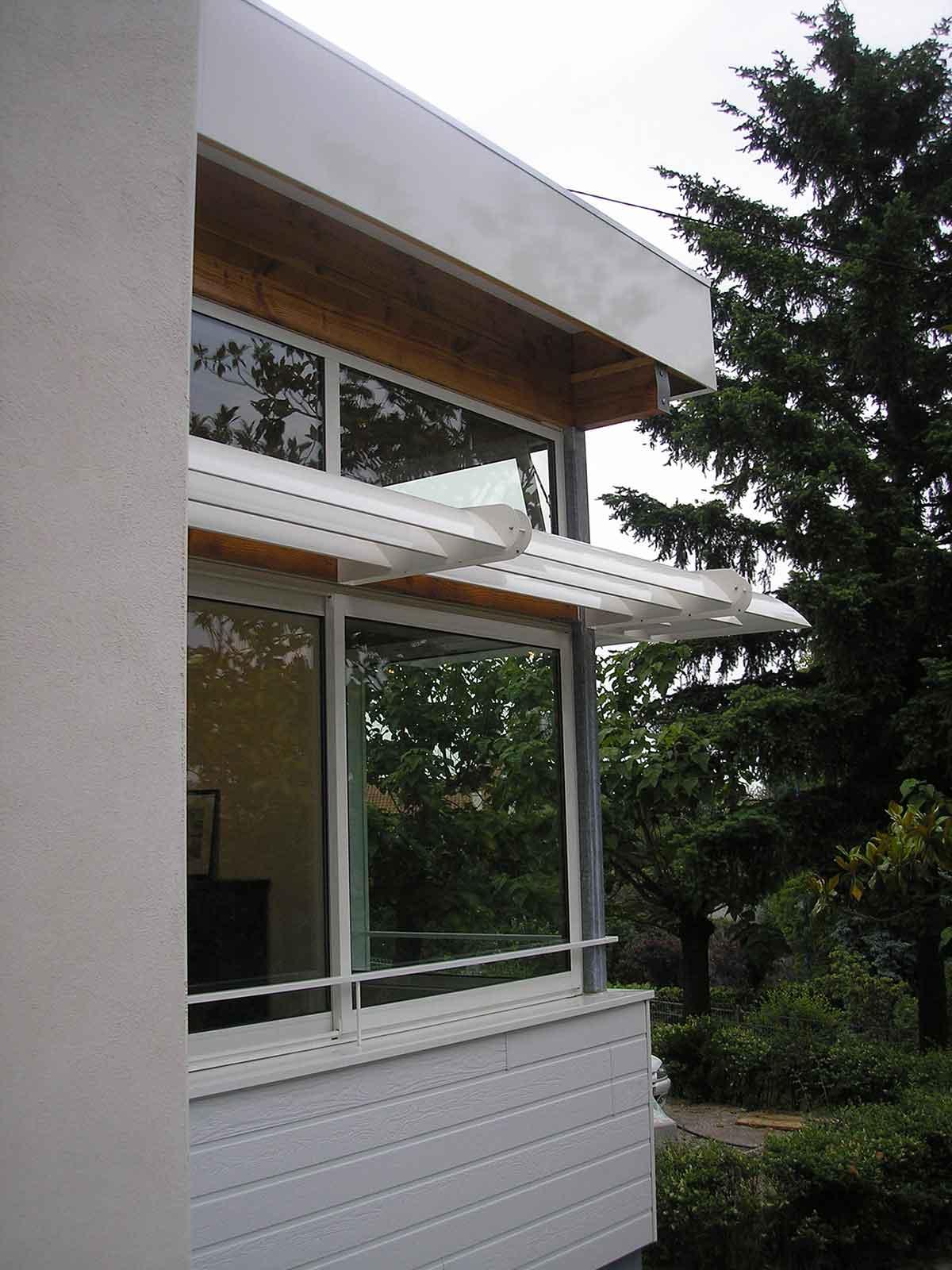 Détail d'une fenêtre Extension Aubière en Auvergne Gonin architectes