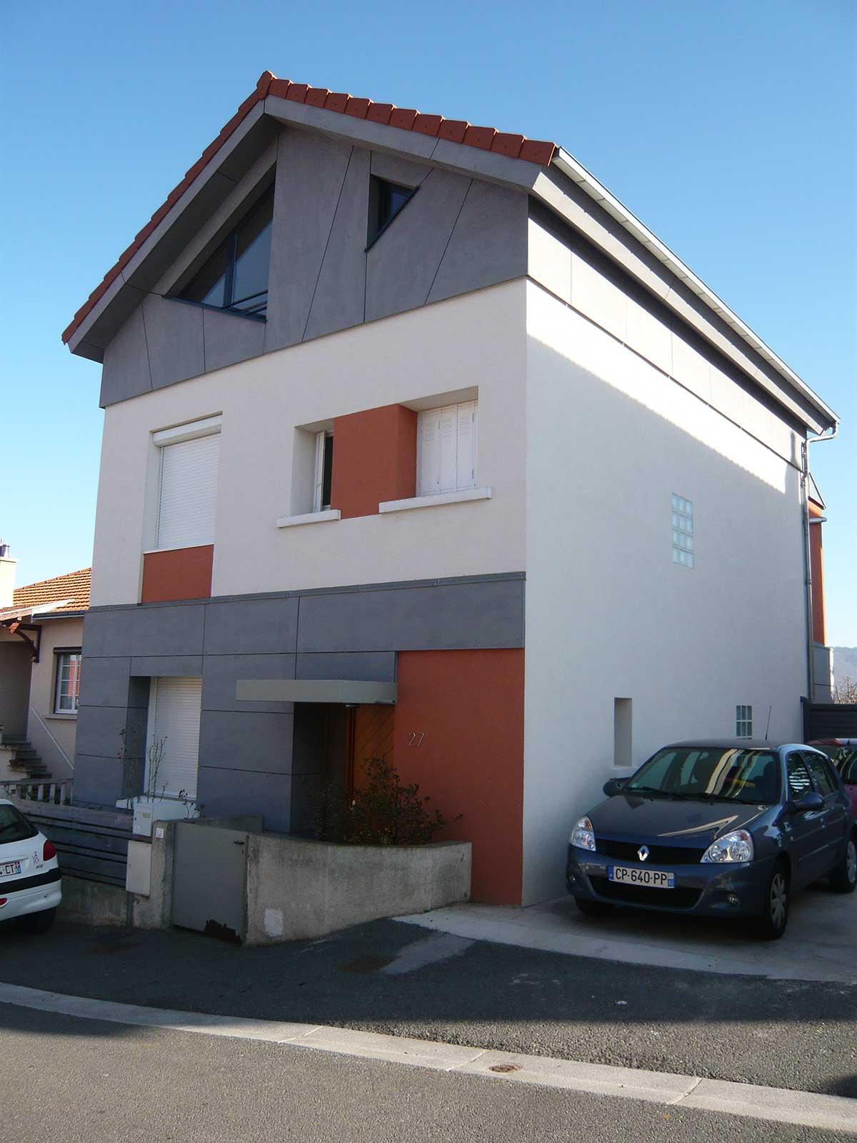 Après facade extension de la maison BO