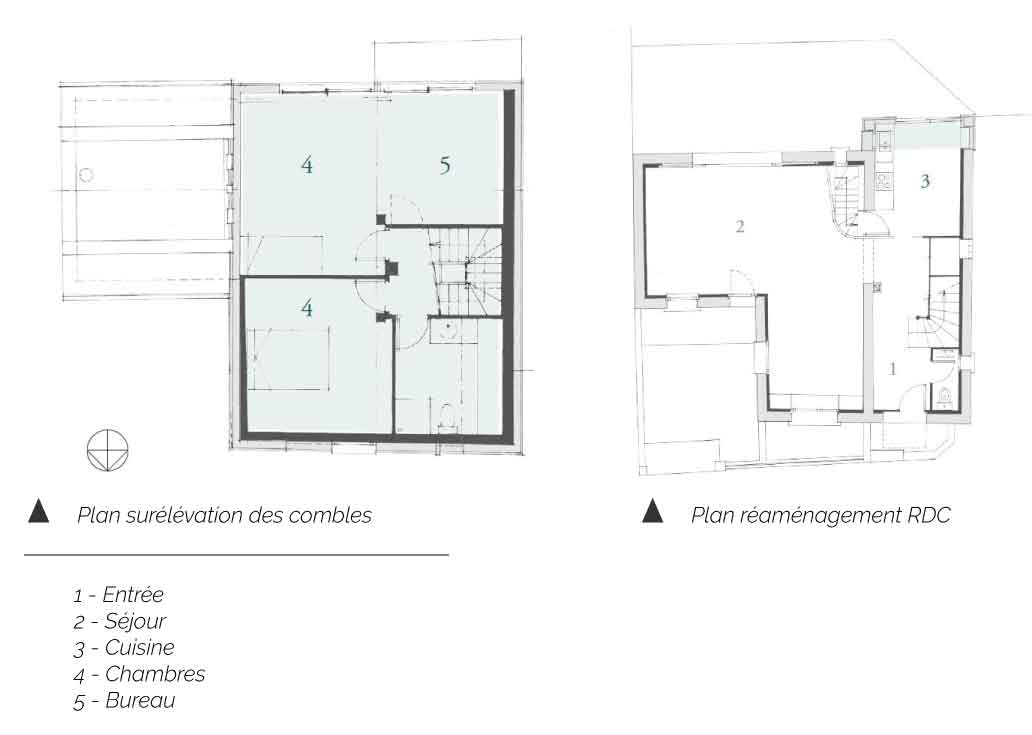 Plan de extension de la maison BO