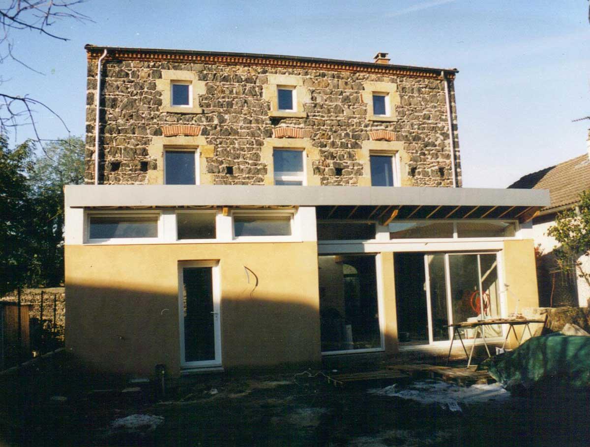 Extension toit inversé Maison CH