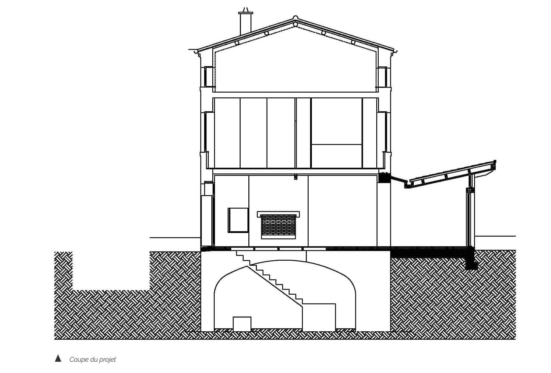 Plan de coupe Maison CH
