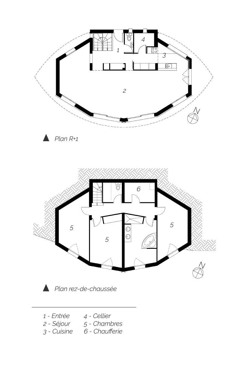 Plan de la maison Jussat