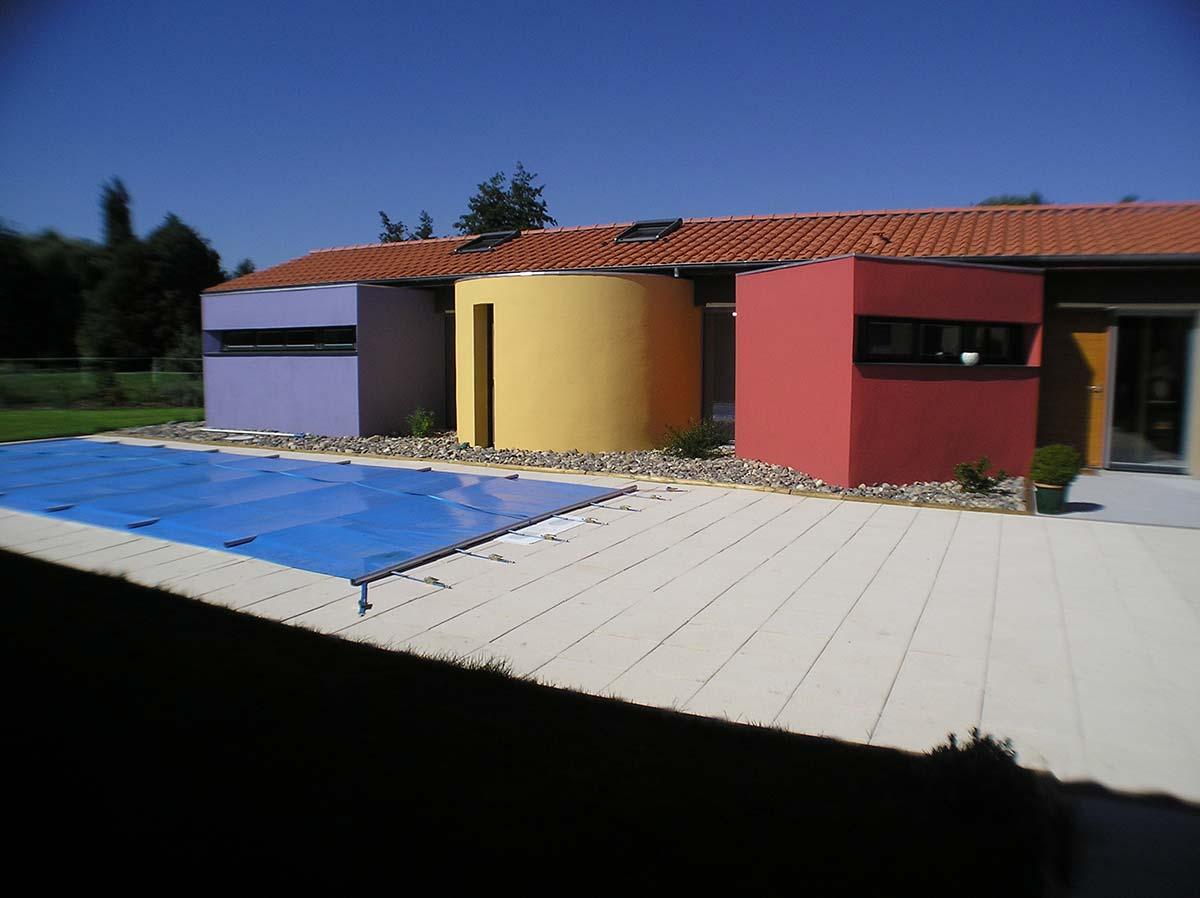 Vue générale de la maison de Marsat