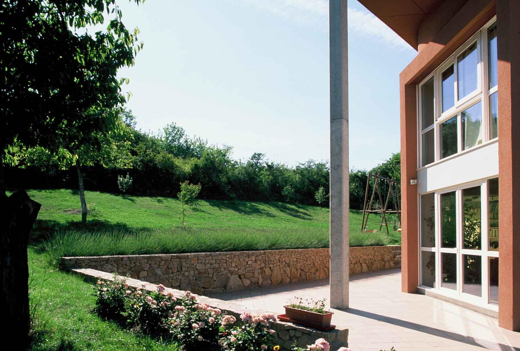 Jardin de la maison en Auvergne