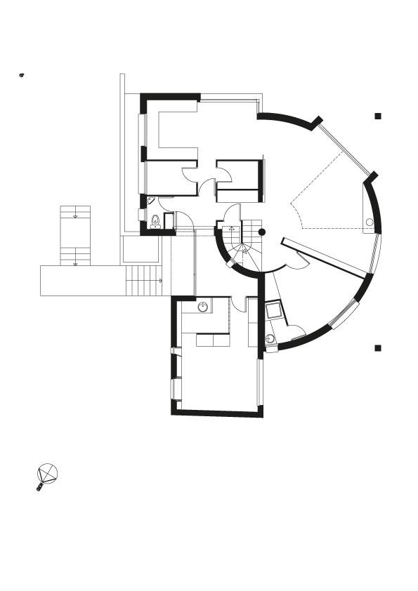Plan rez de jardin avec l'extension