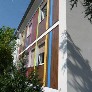 Façade détail siège CMA en Auvergne