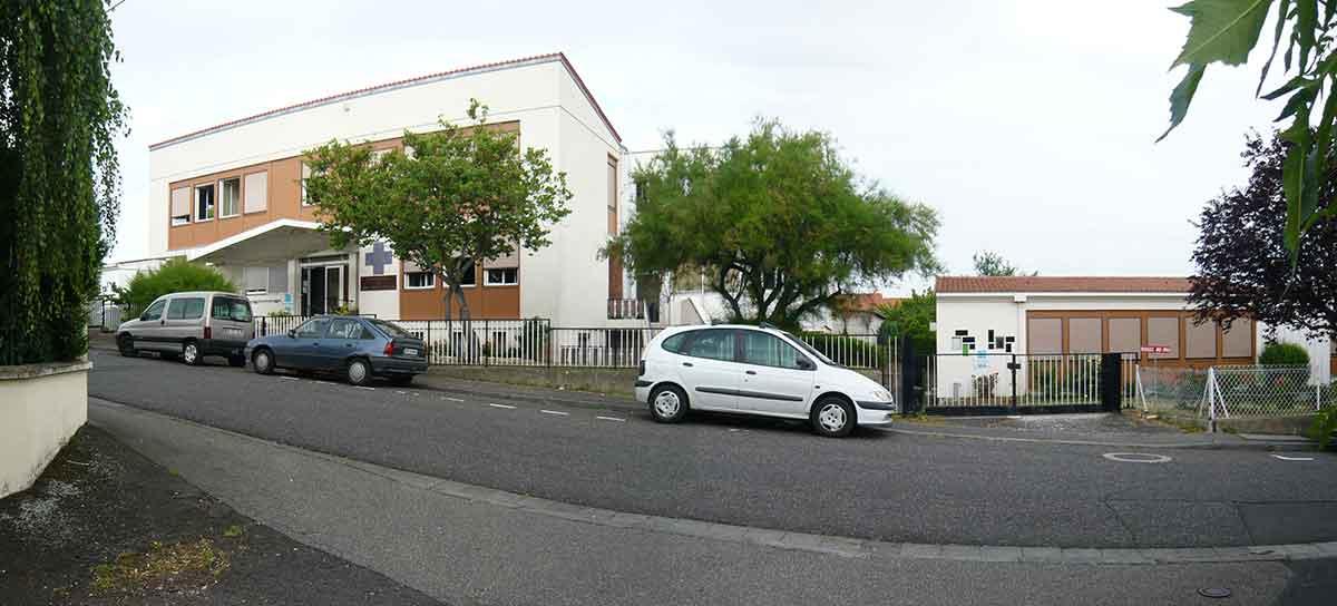 Réhabilitation vue de la rue CMA Clermont Ferrand Auvergne Gonin Architecture