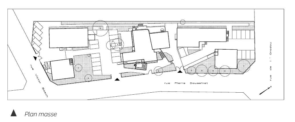 Plan masse du siège CMA d'Auvergne