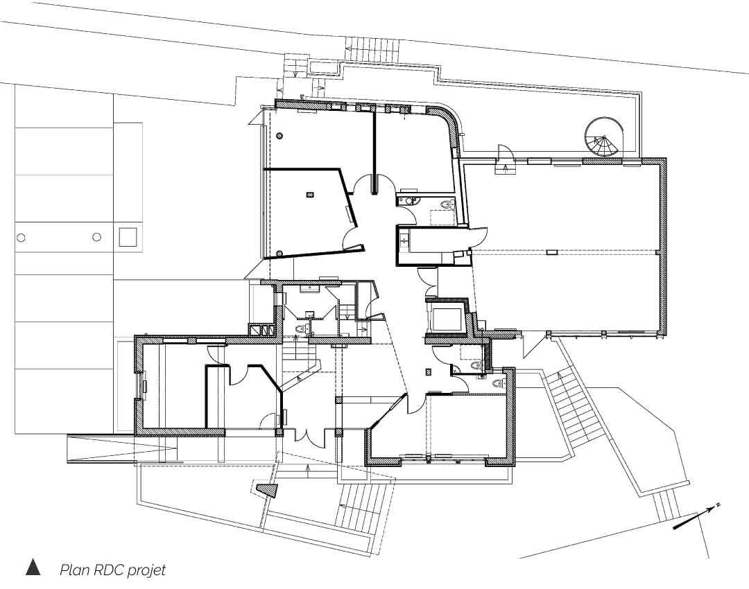 Plan du projet CMA Clermont Ferrand Auvergne Gonin Architecture