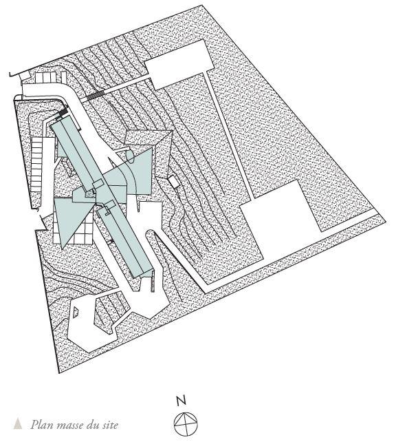 plan masse Etablissement MRS Le Cendre Gonin Architectes