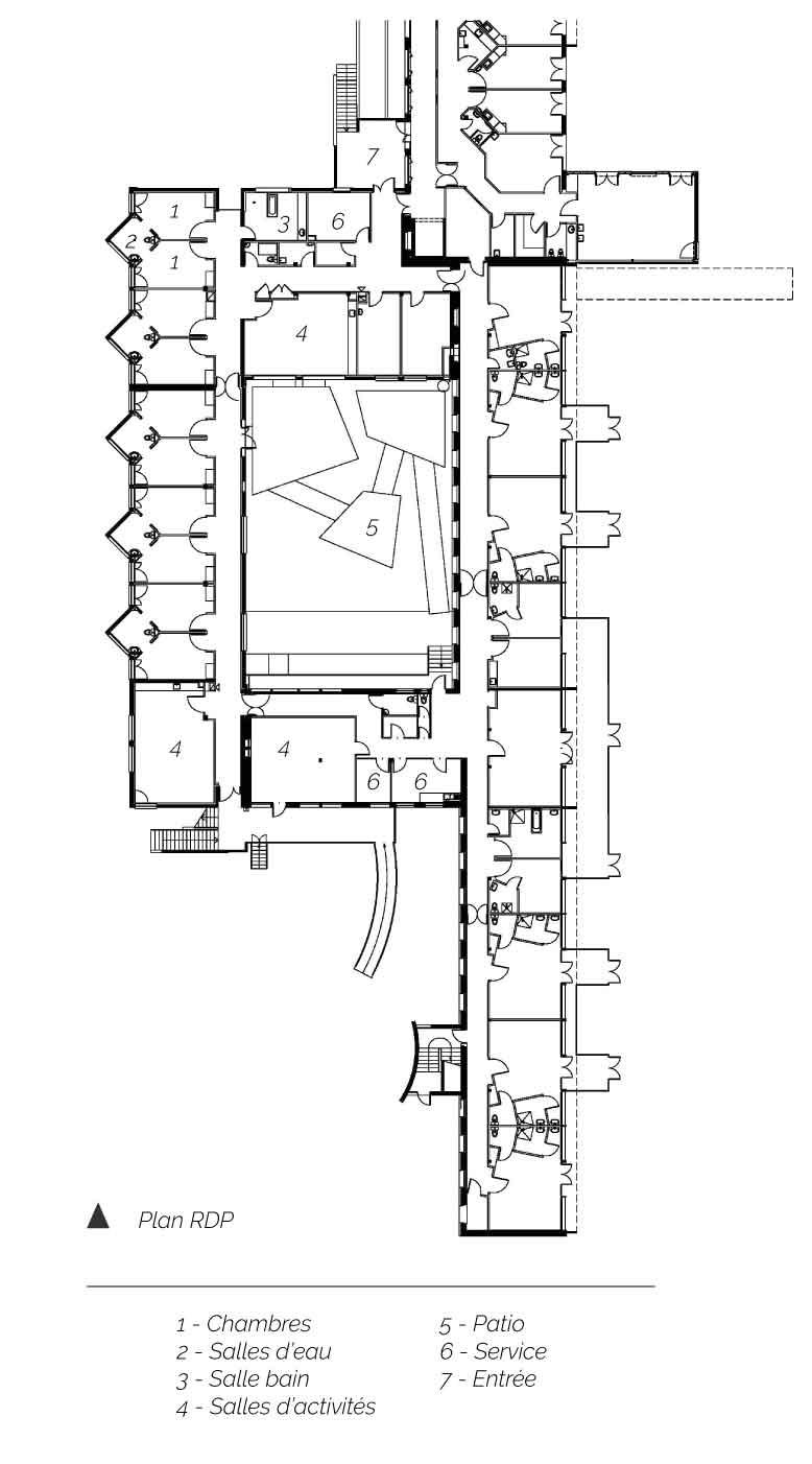 Plan Rez de parc CMI Romagnat