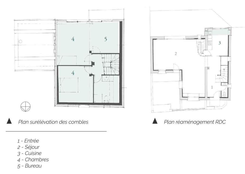 Plan de extension de la maison BO
