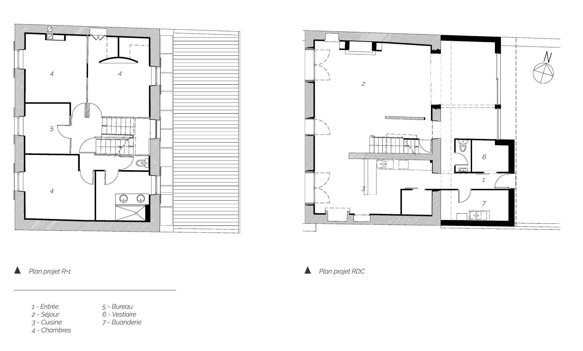 Plan Maison CH à Neschers