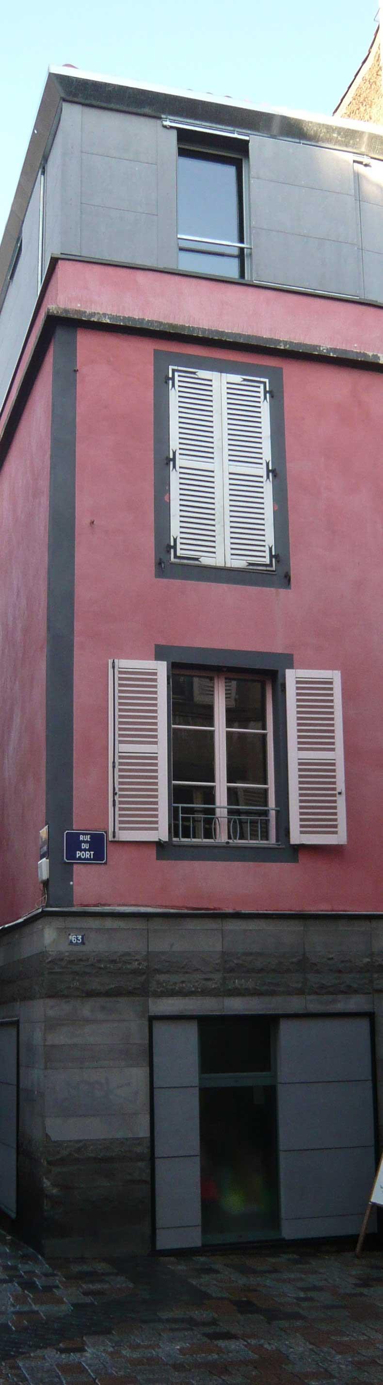 Facade surrélévation maison DD Clermont Ferrand