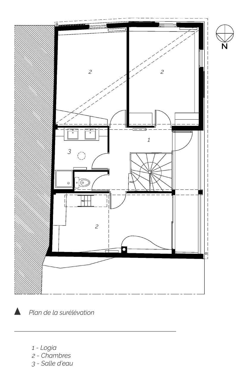 Plan surrélévation maison DD Clermont Ferrand