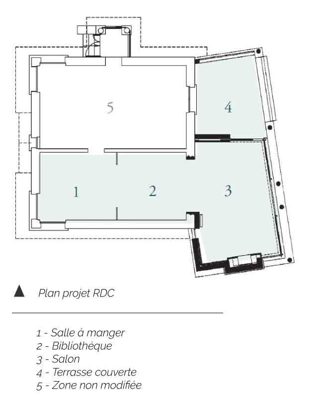 Plan Rez de Chaussée Maison MAD Royat P