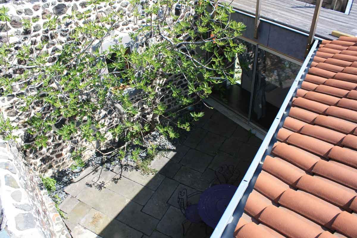 Vue du dessus du patio