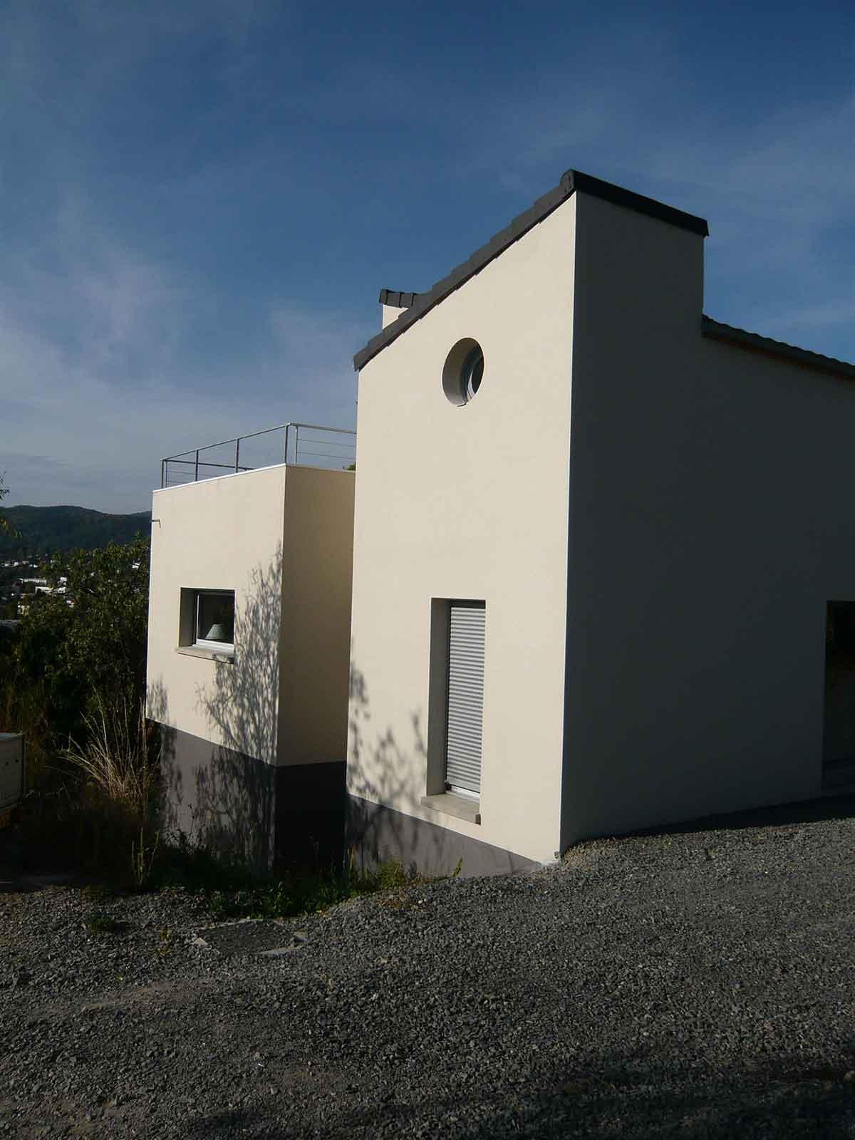 Pignon de la maison de Clermont Ferrand
