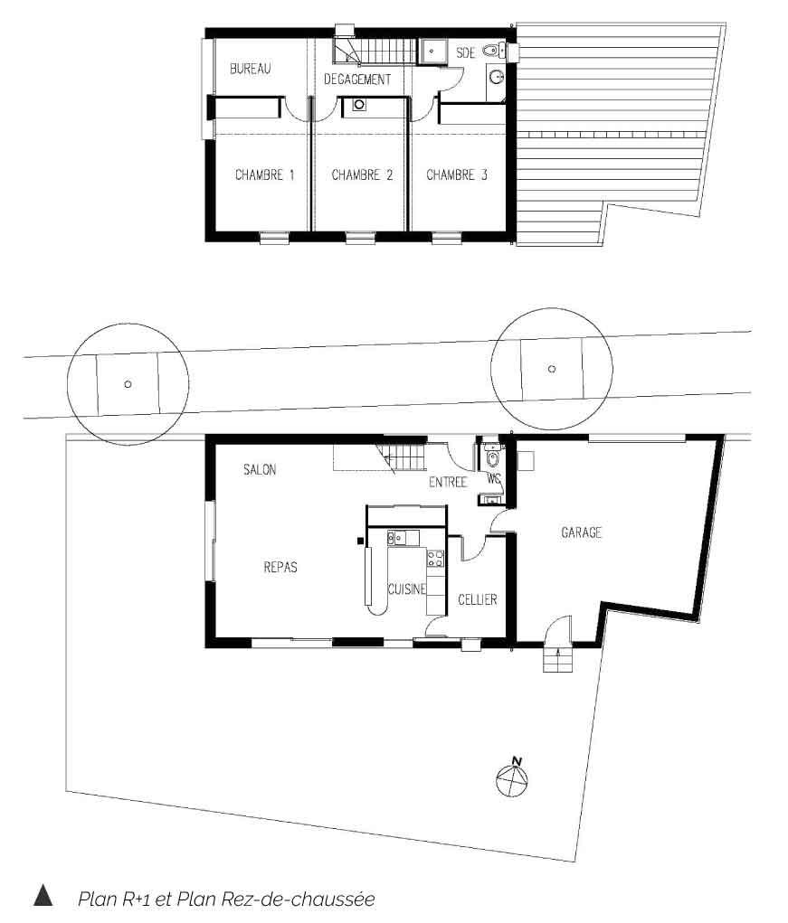 Plan de la maison de Montferrand