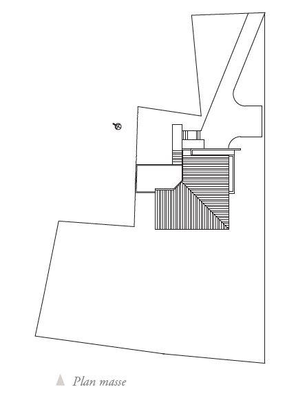 Plan masse de la maison de Cébazat