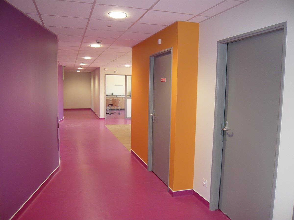 Couloir violet