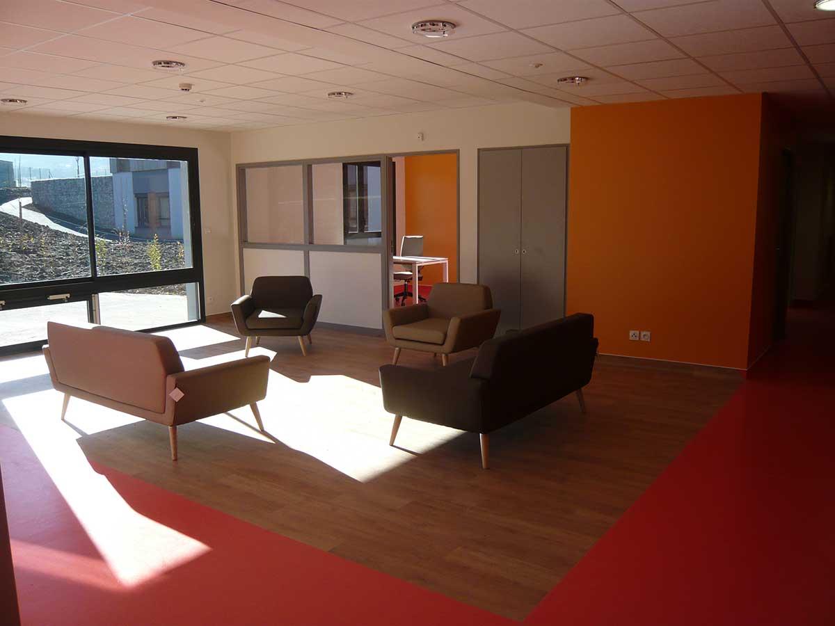 Salon orange Pérignat sur Allier