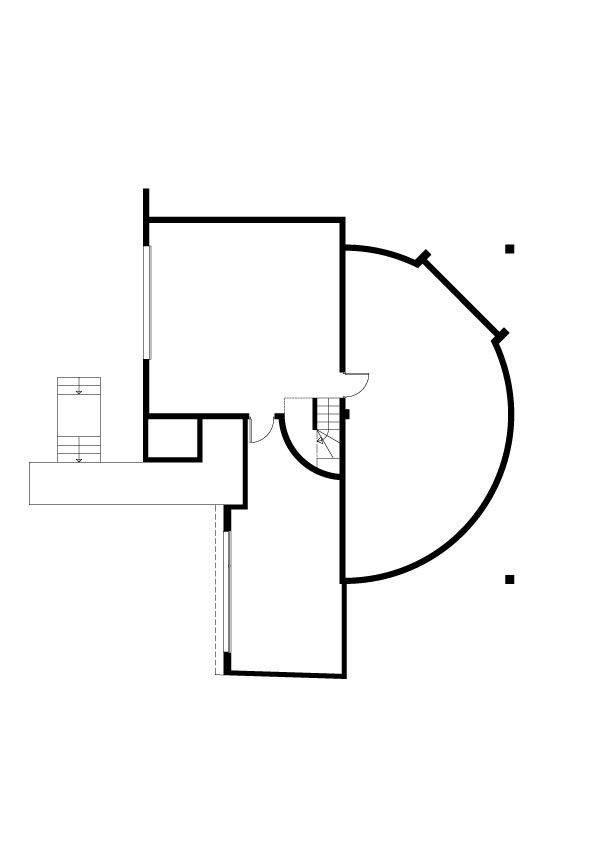 Plan rez de chaussée avec extension