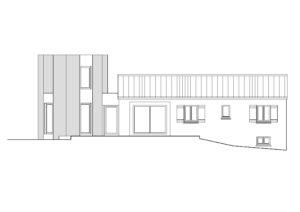 Plan de la façade de l'extension