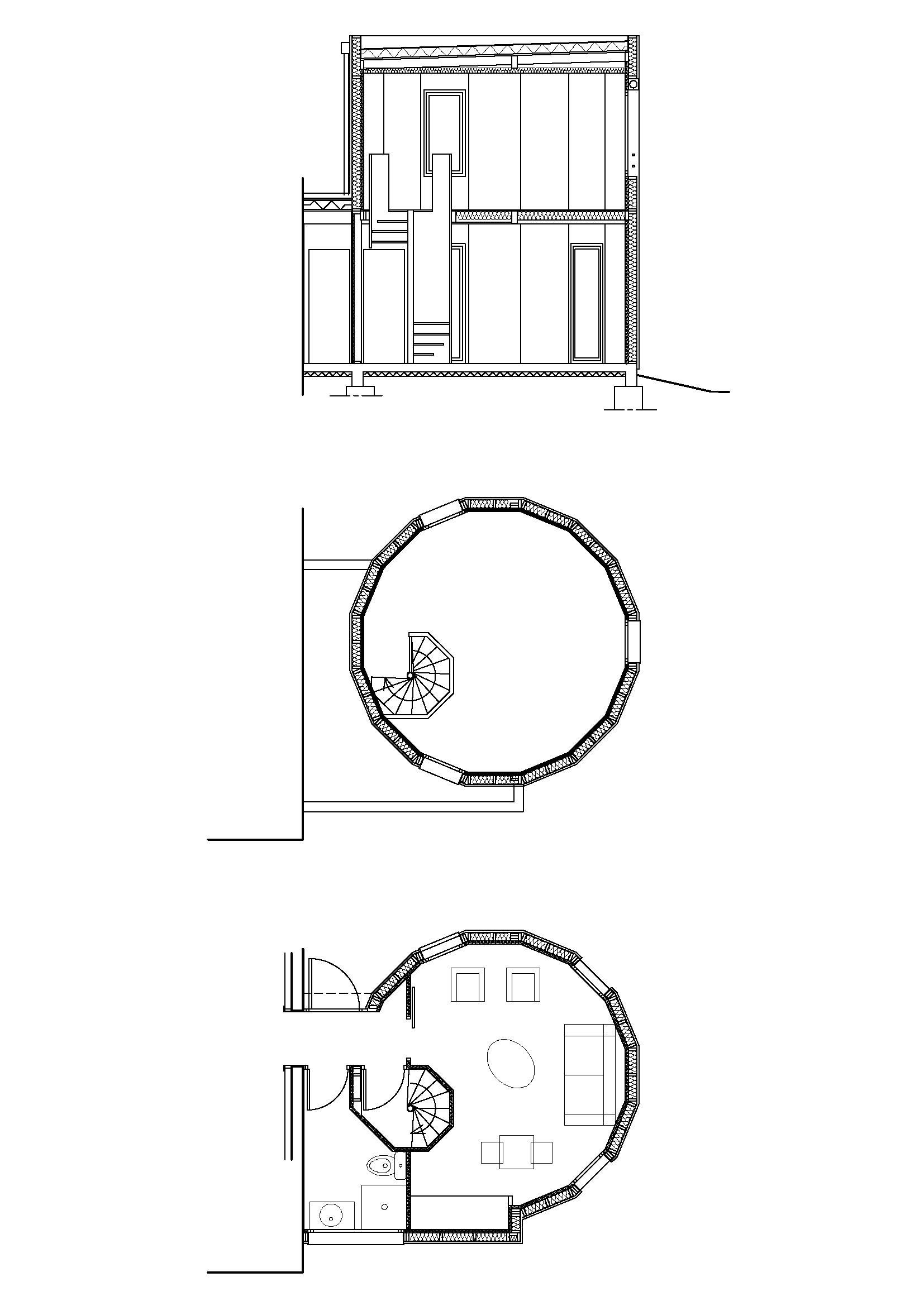 Plans de l'extension