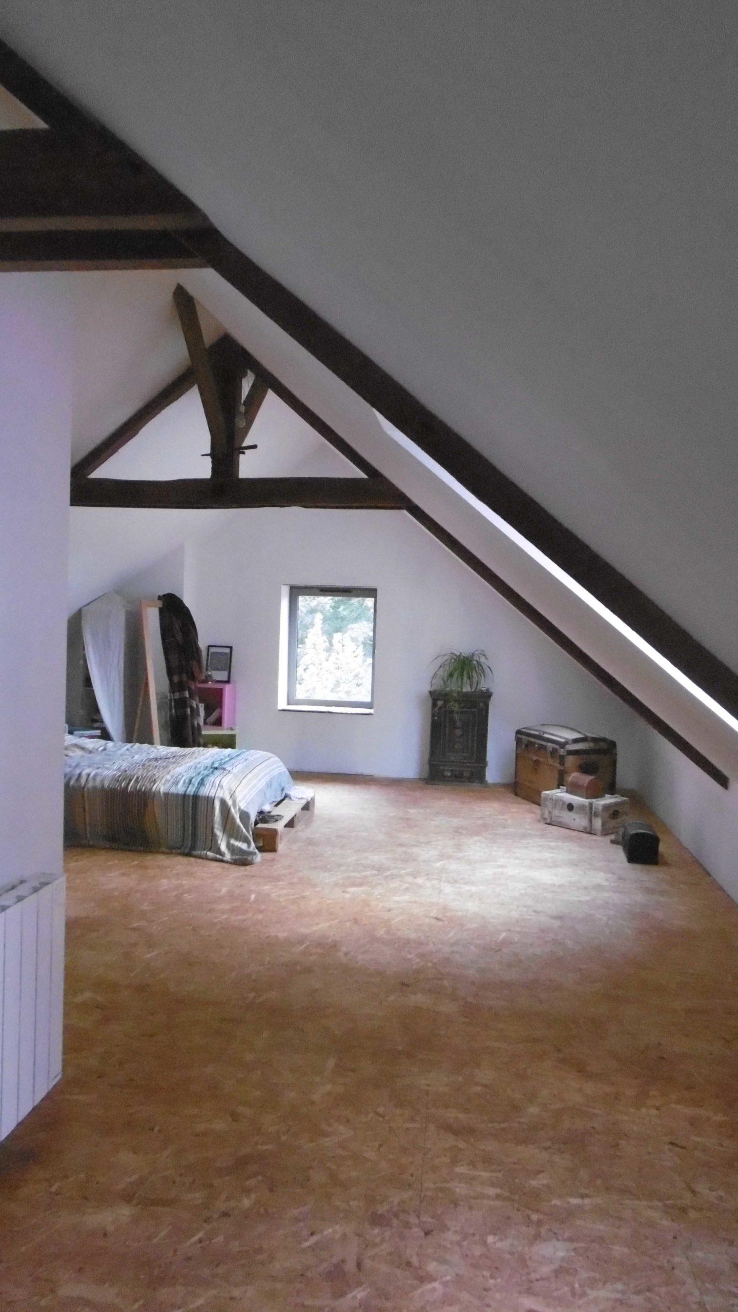 Chambre parentale sous les toits