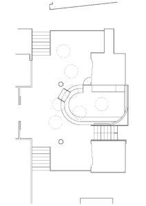 Plan du réaménagement de la banque d'accueil