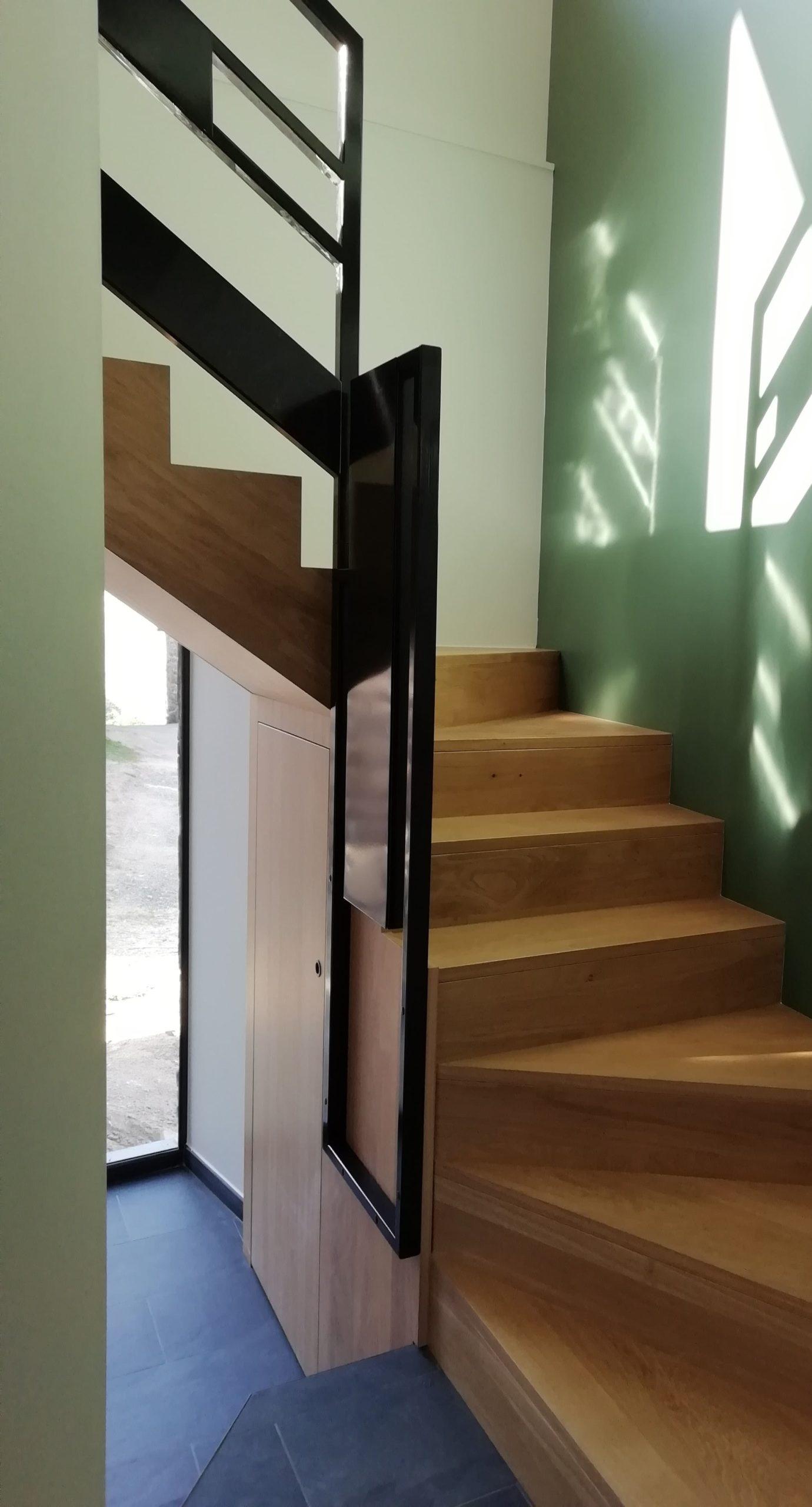 L'escalier depuis l'espace nuit
